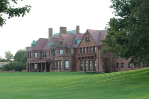 Mansion along Cliff Walk, Newport, Rhode Island