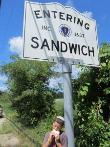 Entering Sandwich