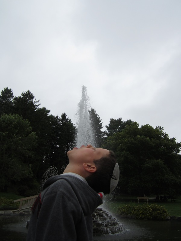 Fun at the fountain in Cascade Park, Bangor