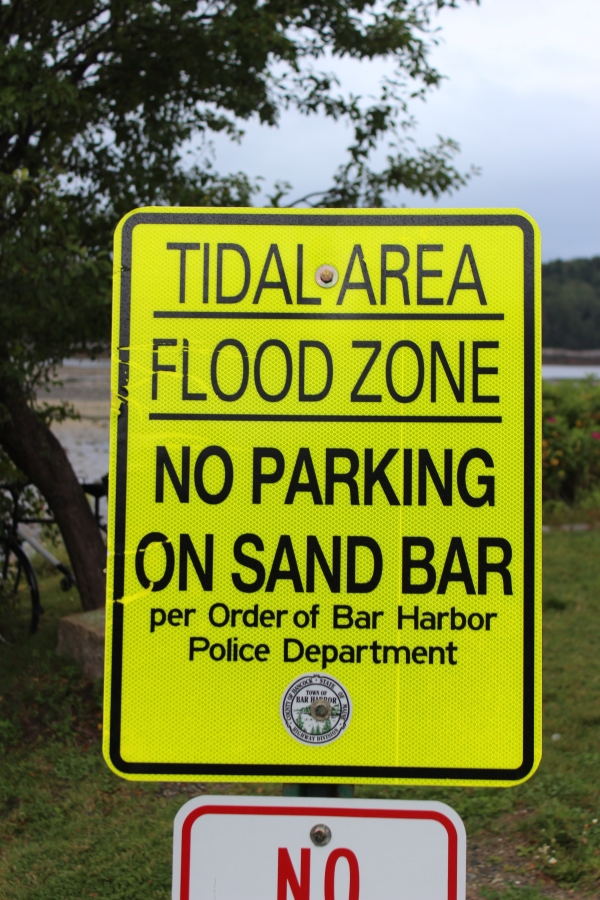 You can even drive across the sand bar, but you REALLY do not want to leave your car there for very long.