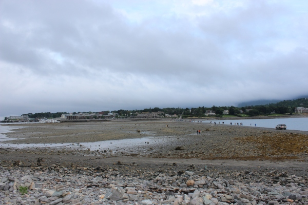This sand bar connects downtown Bar Harbor to nearby Bar Island, but it's completely underwater except at low tide.