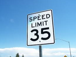 Speed limit 35 mph
