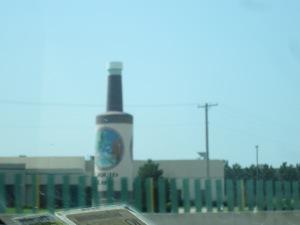 giant Hot Sauce bottle