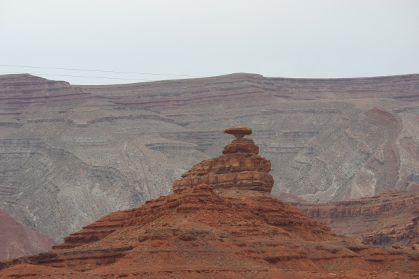 This formation is called Mexican Hat Rock