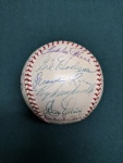 1952 Brooklyn Dodgers Autographed Baseball
