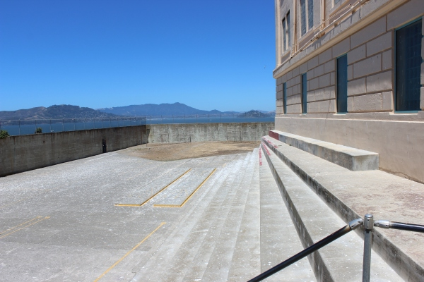 Alcatraz Prison Recreation Yard